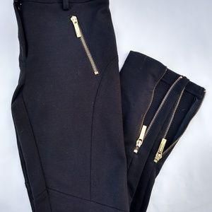 Black with gold zipper Michael Kors pants